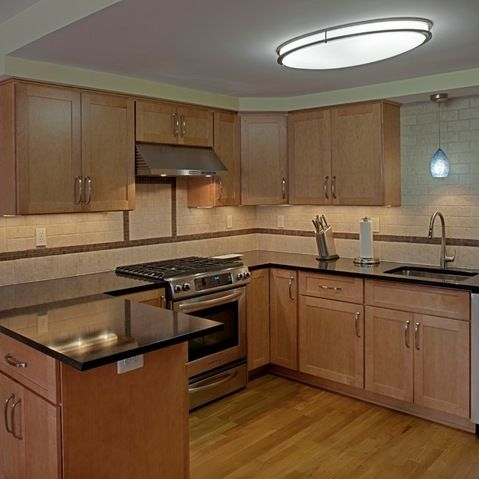 Cambria Charston countertops with natural maple ... on Natural Maple Cabinets With Quartz Countertops  id=95341