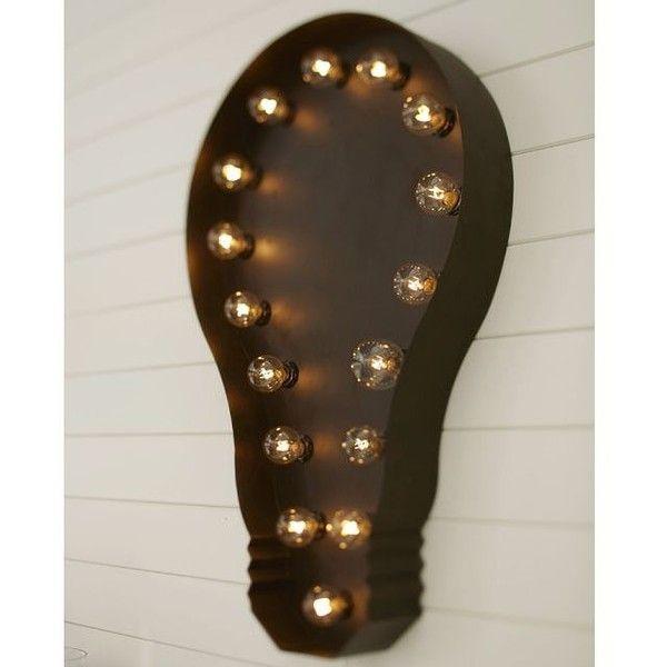 Pottery Barn Lit Light Bulb