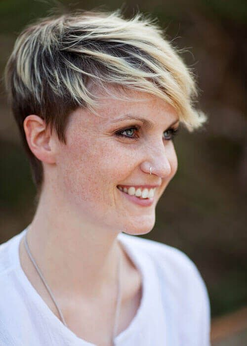 Frosted Fringe Short Pixie