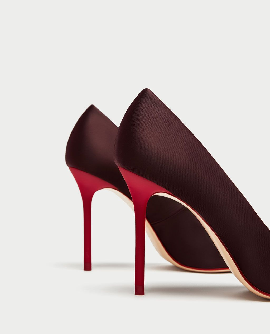 0545218b610 SATIN COURT SHOES WITH CONTRASTING HEELS-View all-SHOES-WOMAN