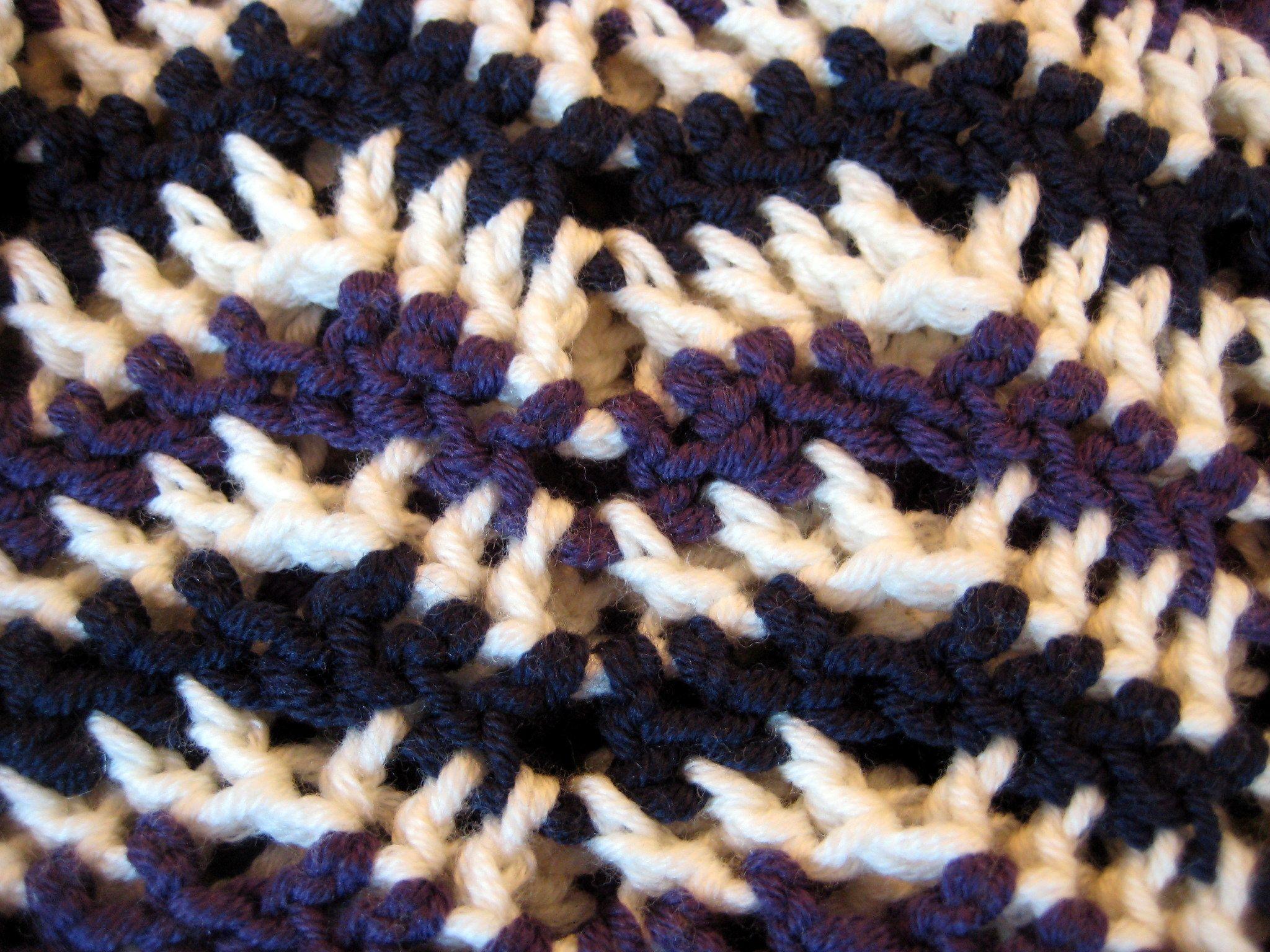 Decrease Row Purple In Chevron Stitch Pattern How To Shape