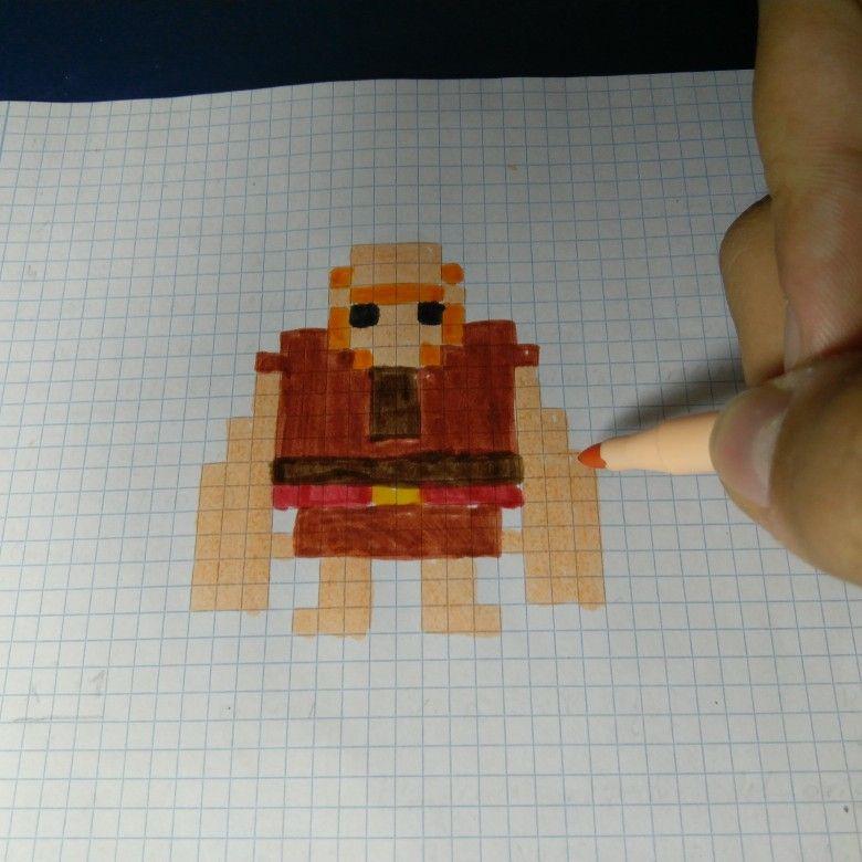 Gigante De Clash Royale Y Clash Of Clans Pixel Art Hama