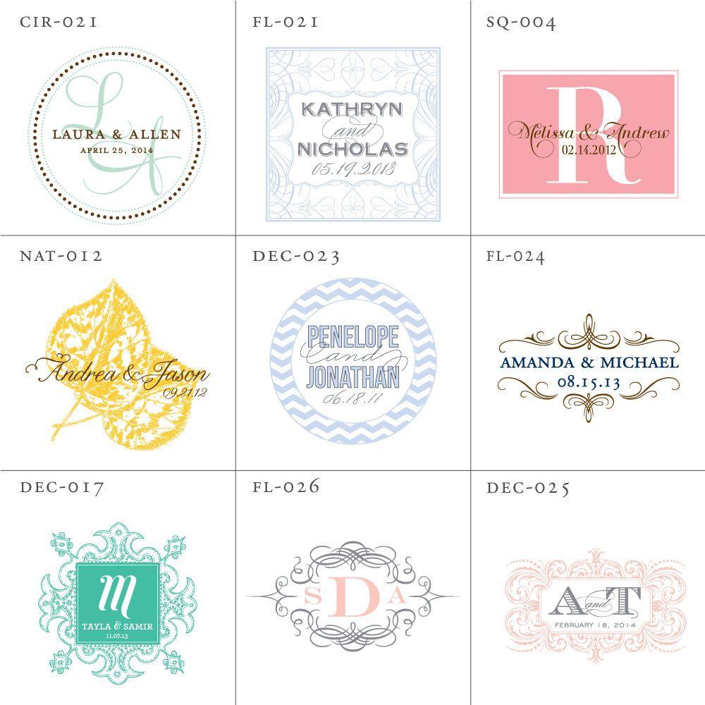 Wedding Logo Design Monogram Digital File