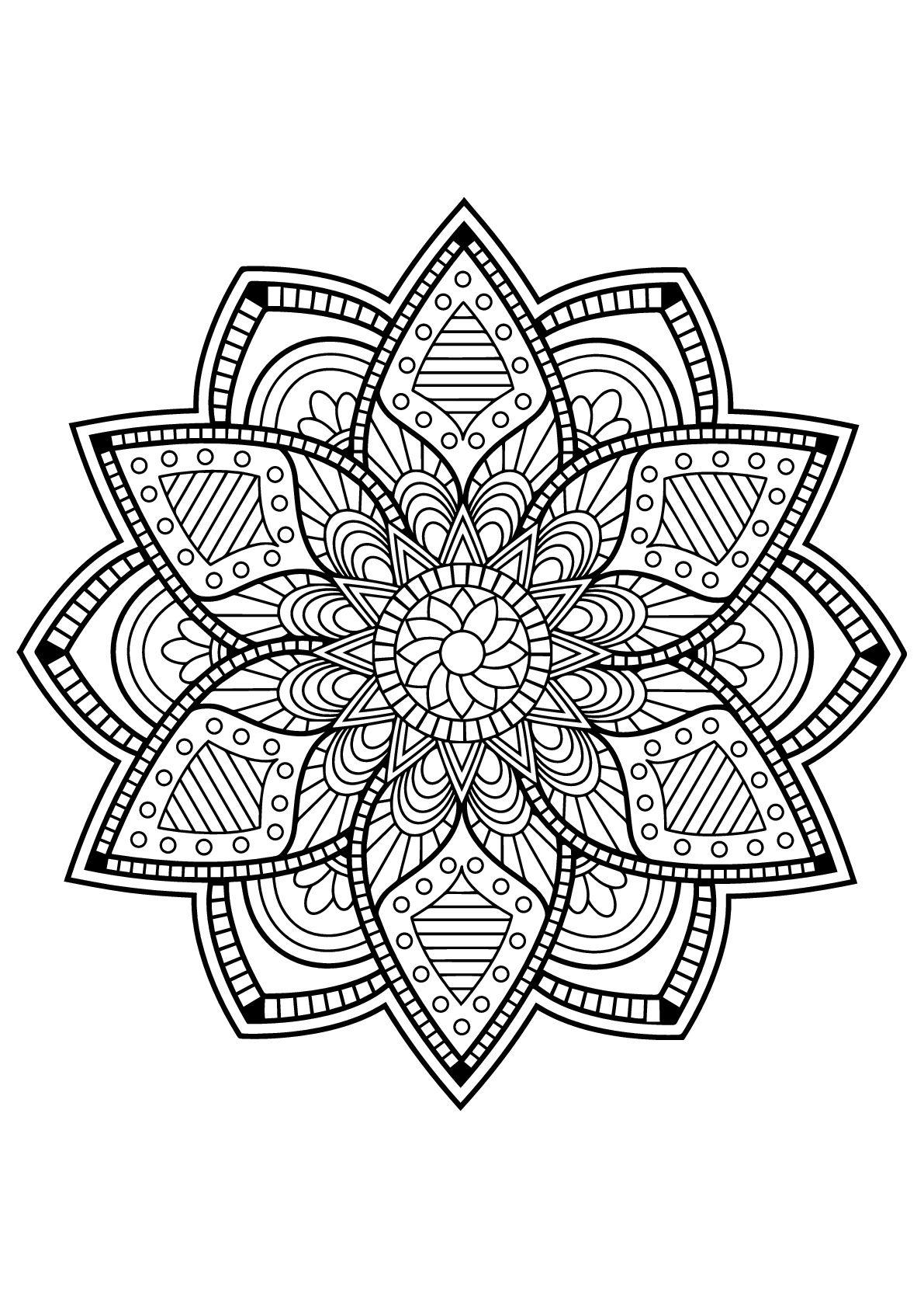 Free Mandala Pages