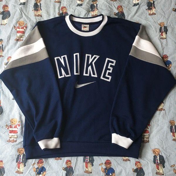 Image of Vintage Navy Nike Sweatshirt
