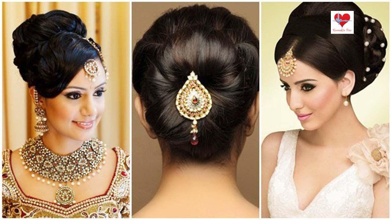 indian bridal hairstyles low bun image for fashion | kamukta