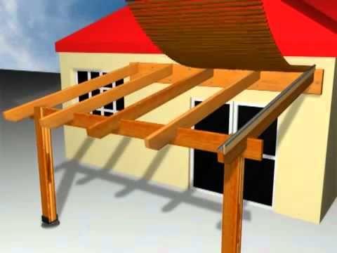 Como Construir Una Pergola Techo De Pérgola Techo De Patio Cobertizos De Madera