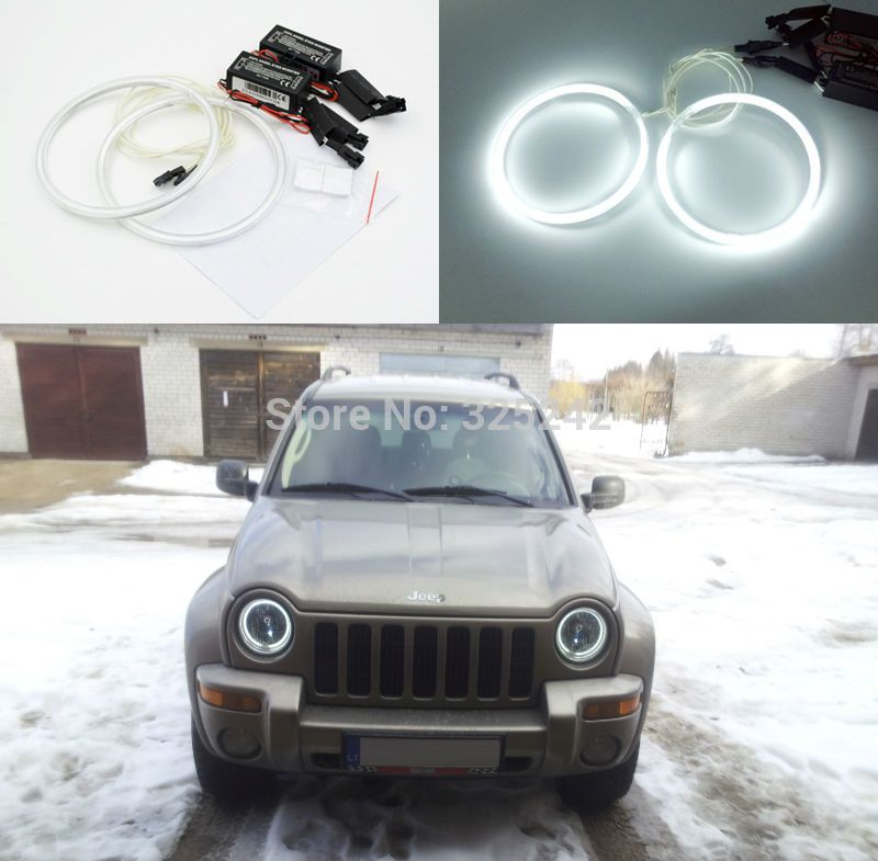 For Jeep Liberty Kj 2002 2003 2004 Excellent Angel Eyes Ultra Bright Illumination Ccfl Angel Eyes Kit Halo Ring