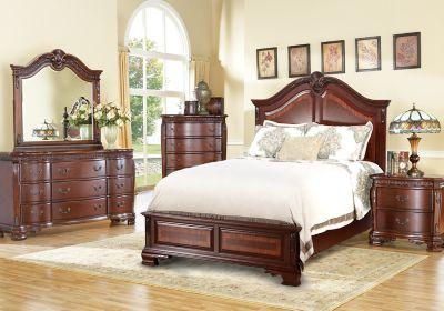 cortinella cherry 5 pc queen panel bedroom find affordable bedroom sets for your