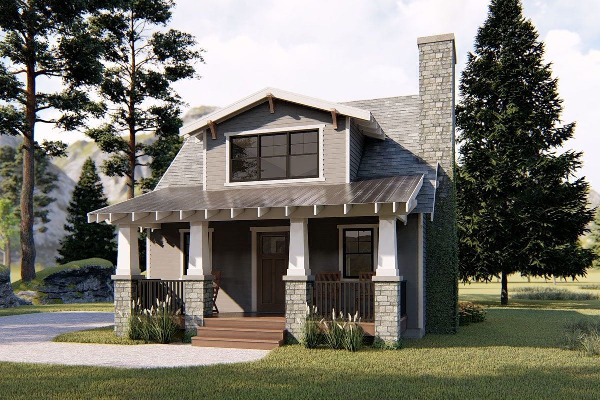 Plan 62674dj Petite Northwest Bungalow In 2021 Mountain House Plans Cottage House Plans House Plans