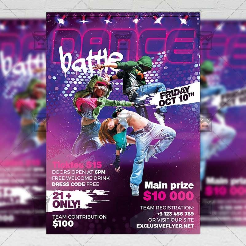 dance battle flyer club a5 template exclsiveflyer free and