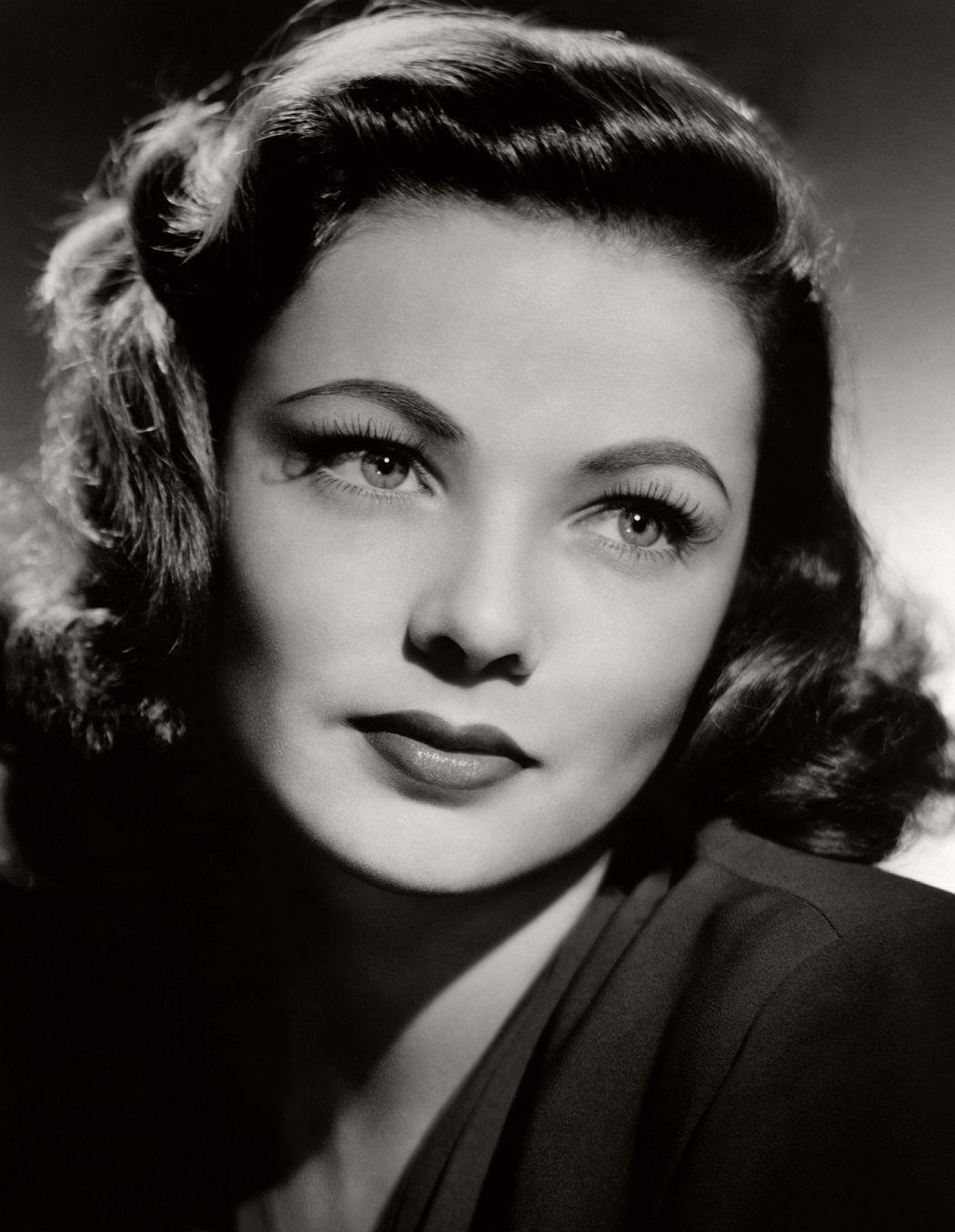 1940s makeup Gene Tierney Famous Actress Vintage Portrait ...