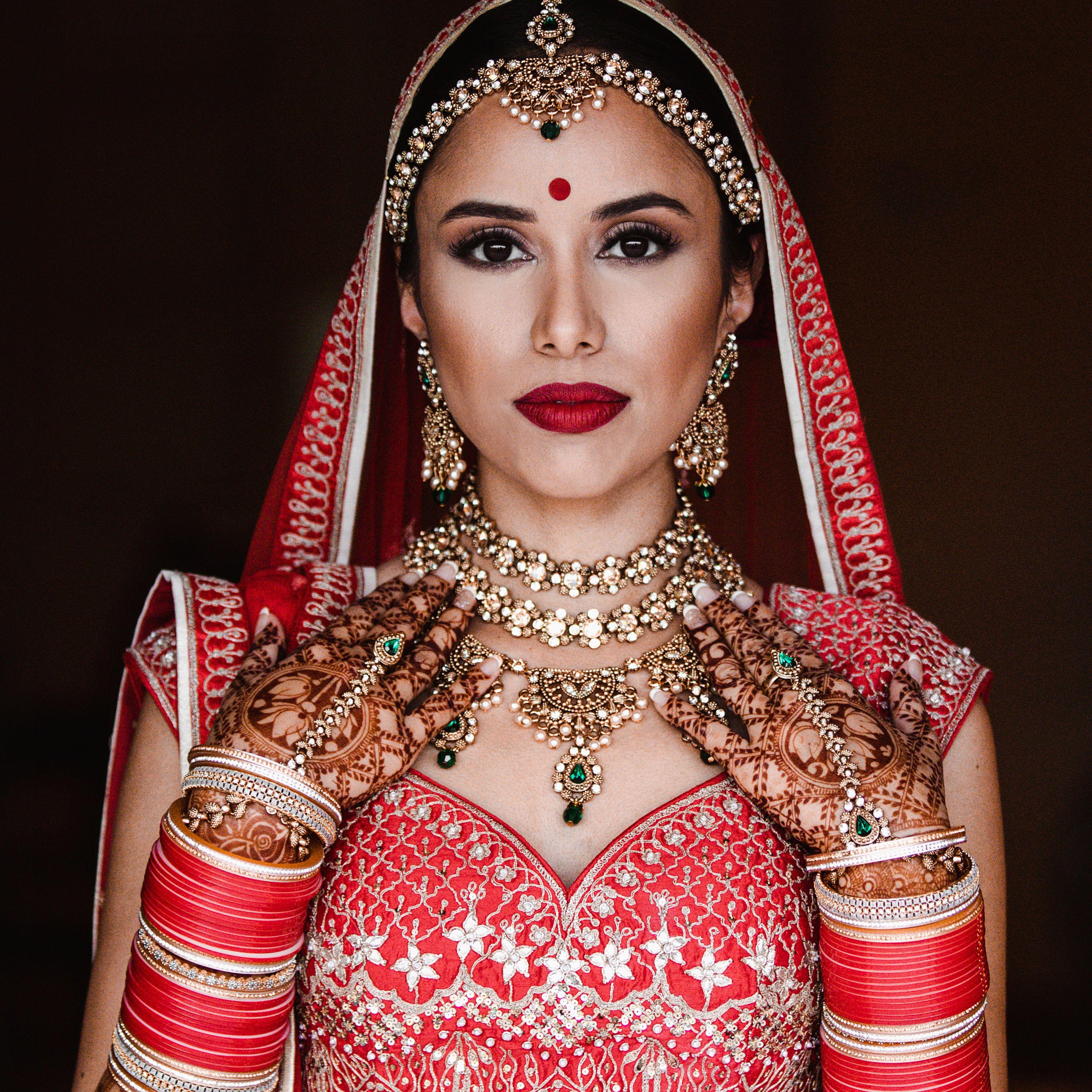 Nina Ubhi Makeup Indian bride makeup, Indian wedding