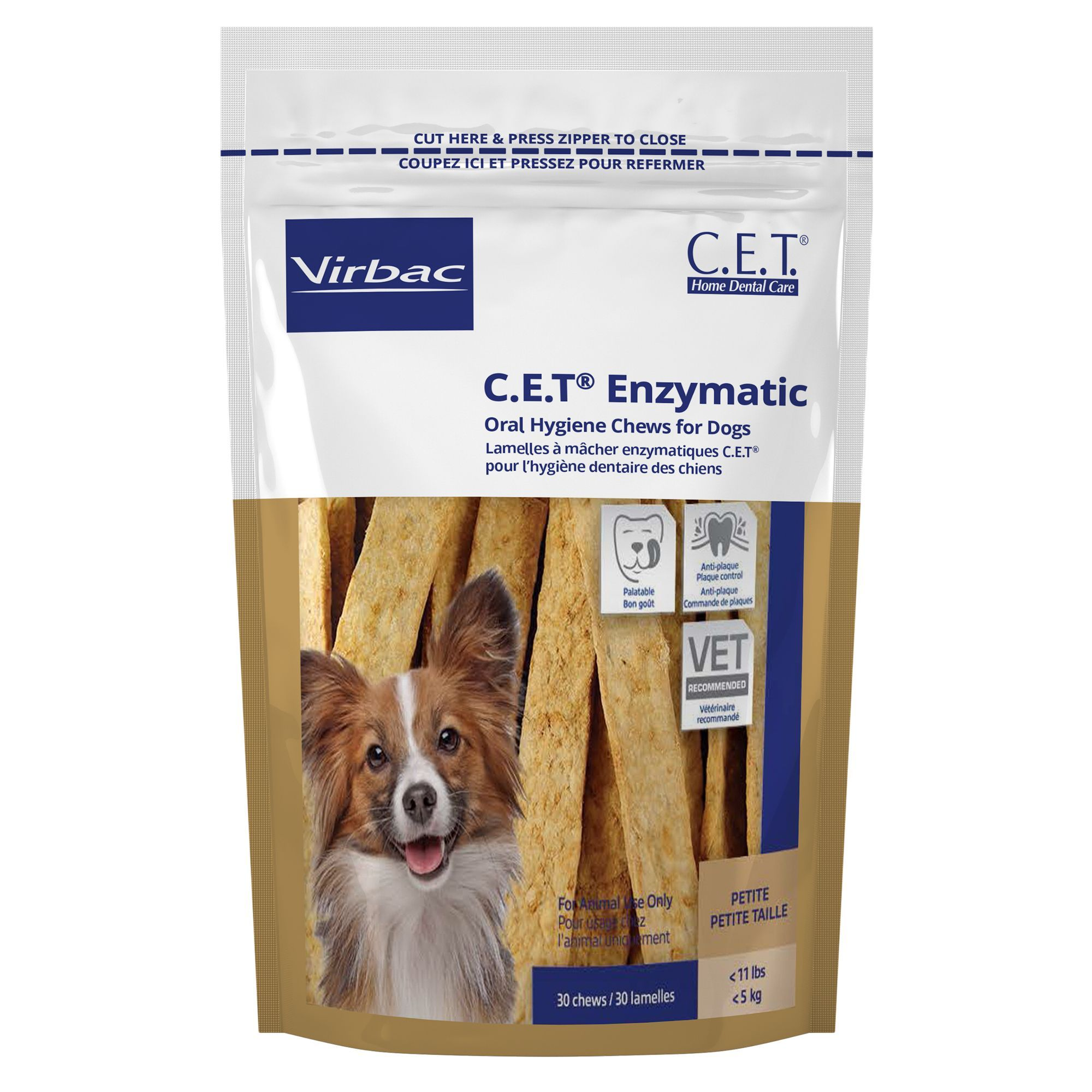 Virbac C E T Enzymatic Oral Hygiene Care Dog Chews Size Petite