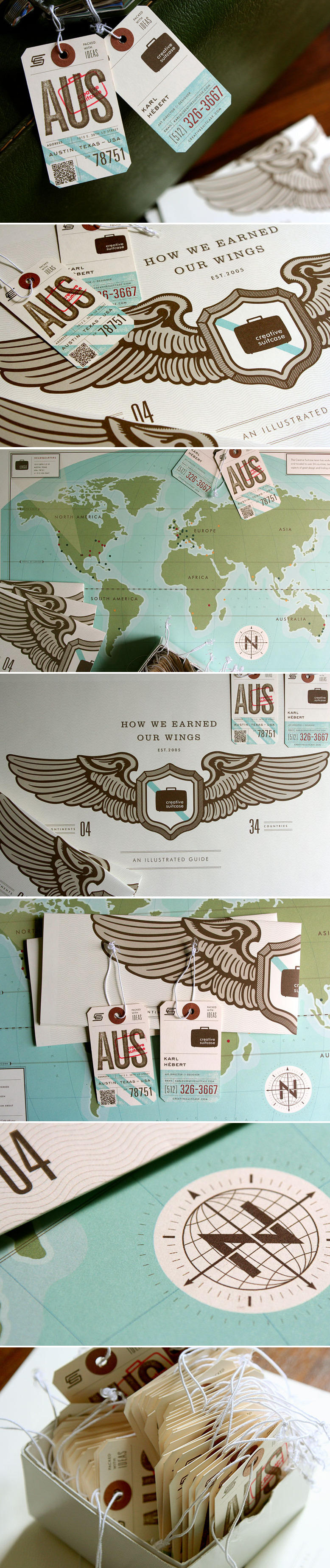 Creative Suitcase business cards by Karl Hebert