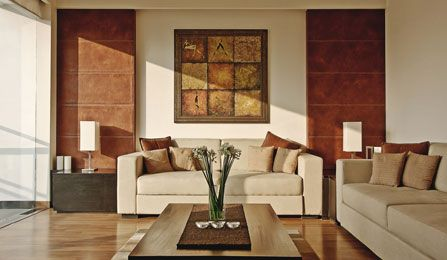 Modern House Design Living Room Earth Tone Accent LOVE This