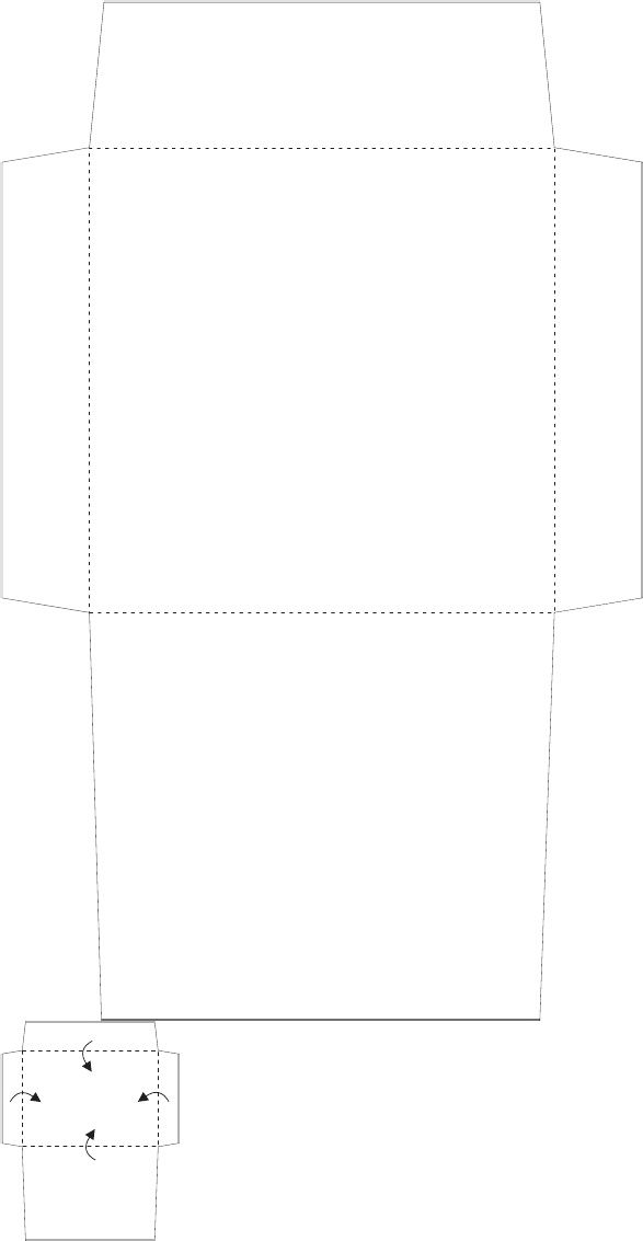 4x4 Square Envelope Template Printables Design Downloads