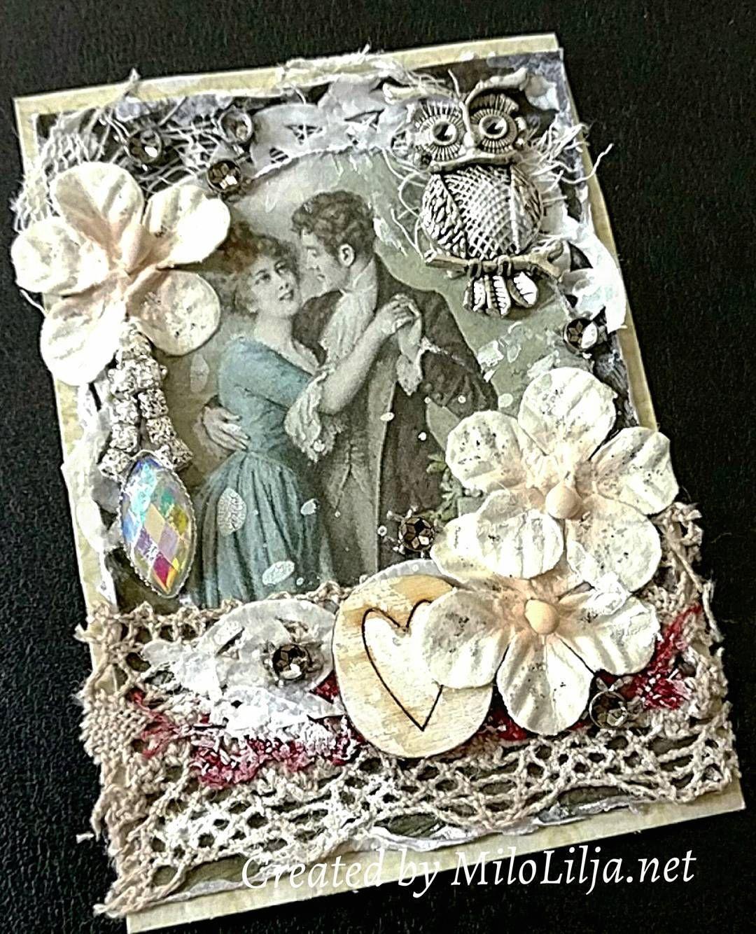 See all my ATC cards at: {#miloliljaartATC} {#miloliljaART} {#jewlery}   {#heart} {#owl} {#couple}   {#myart} {#scrapbooking} {#tarjetas} {#handmadecard} {#kortlaging} {#scrapping} {#instadaily} {#art} {#instaart} {#artist} {#masterpiece} {#paperart} {#crafting} {#creative} {#scraptop} {#vintage} {#shabbychic} {#mixedmedia} {#atc} {#atctrade} {#atccard} {#artisttradingcard} {#tradingcards} {#cardmaking}