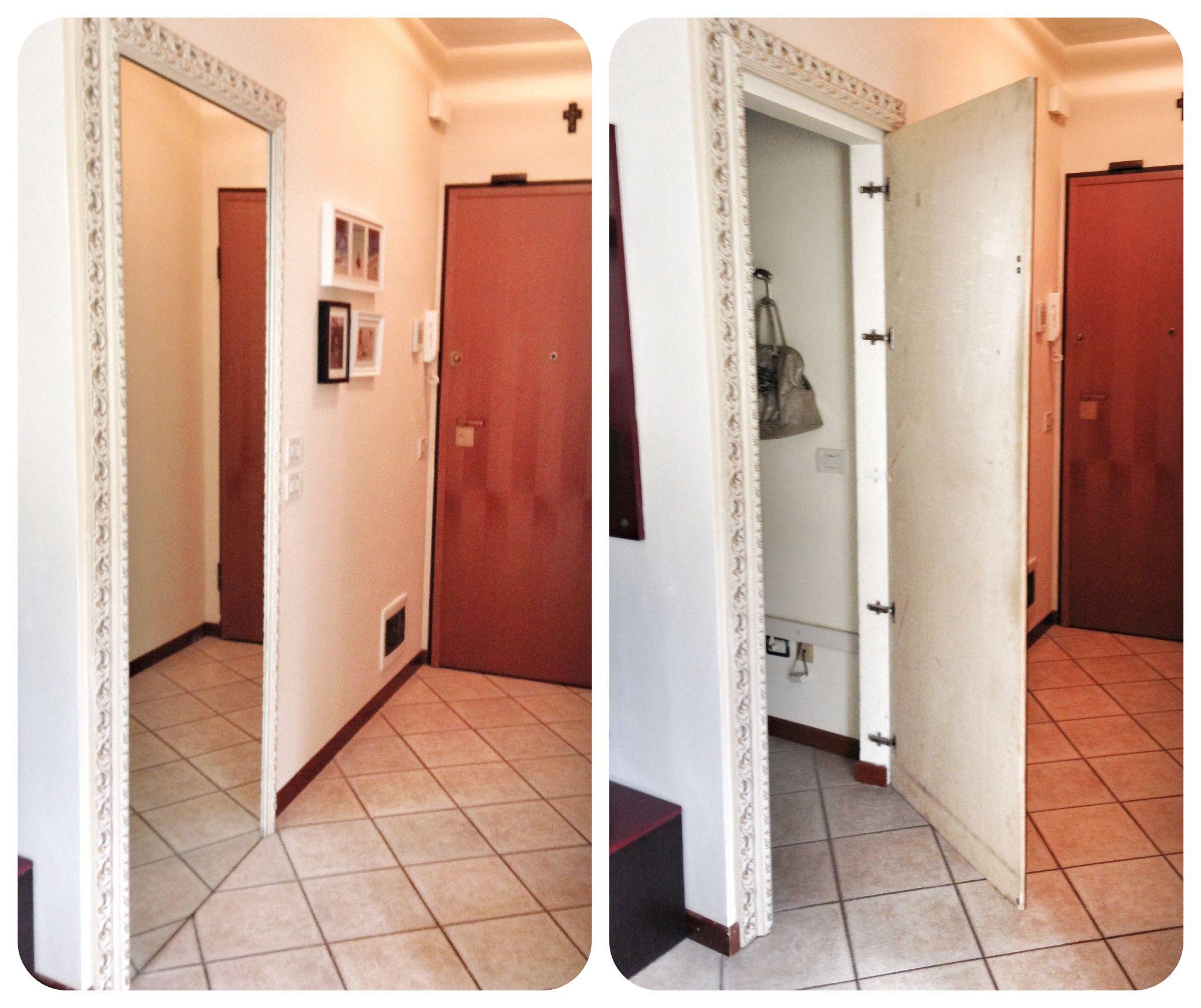 Creare un piccolo ripostiglio nell 39 ingresso alzare una - Porta di cartongesso ...