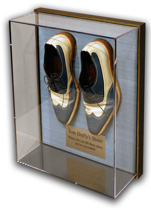 Tom Duffy Shoes in Acrylic Box The Framer\'s Workshop, Berkeley, CA ...