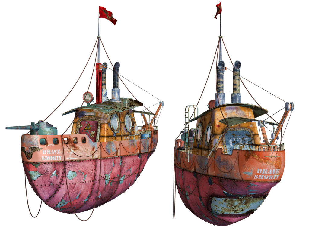 Steampunk Flying Tug Boat 01 Png Stock By Roys Art On Deviantart Steampunk Ship Boat Art Boat Drawing