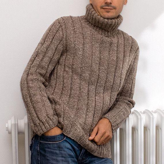Tricoter Un Pull A Col Roule Tricot Homme Gratuit Pull Col Roulé Homme Tricot Pull