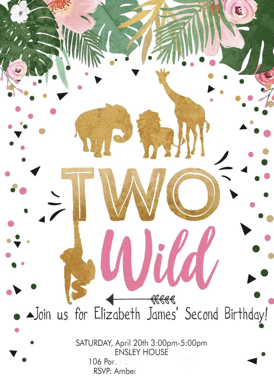 2 Wild Birthday Party Invitation Wild birthday party