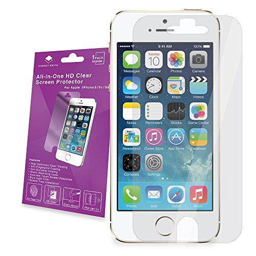 Gadget Smith Incredible Impact Resistance Screen Protector for iPhone 5/5c/5s - Retail Packaging - HD Clear - CONTINUE @ http://www.enetworkinghub.com/Gadgets/100097/dbz