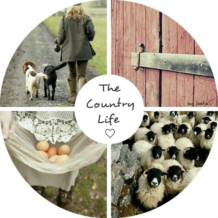 The Country Life. #moodboard #mosaic #collage #byJeetje♡