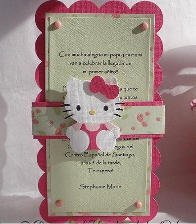 Invitaciones Cumpleanos Hello Kitty Caseras Cartulina