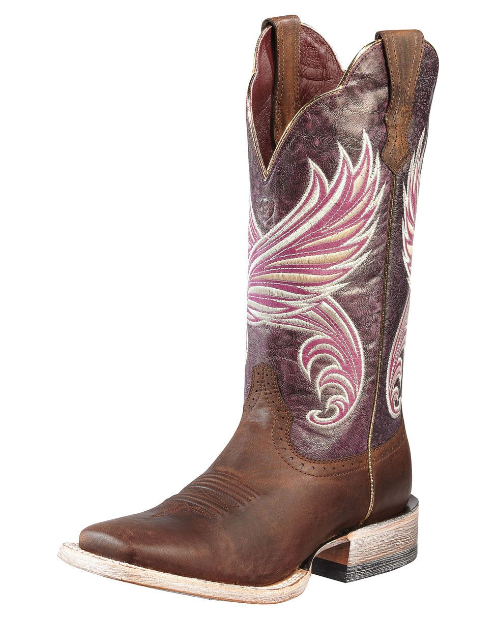 Ariat Women's Fortress Boot - Weathered Brown/Purple Marble OH I just love  these!