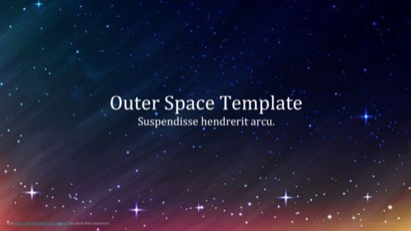 Outer Space - Education Science theme for PowerPoint Education