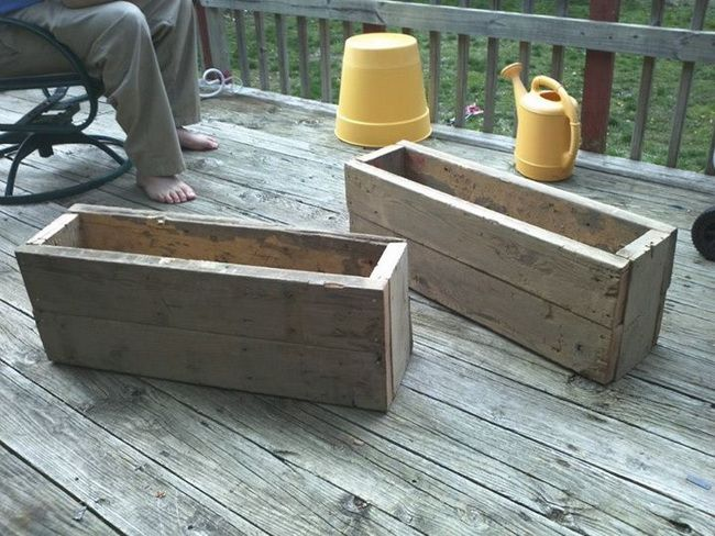 Using Reclaimed Wood We Made Some Diy Garden Planter Boxes | Diy
