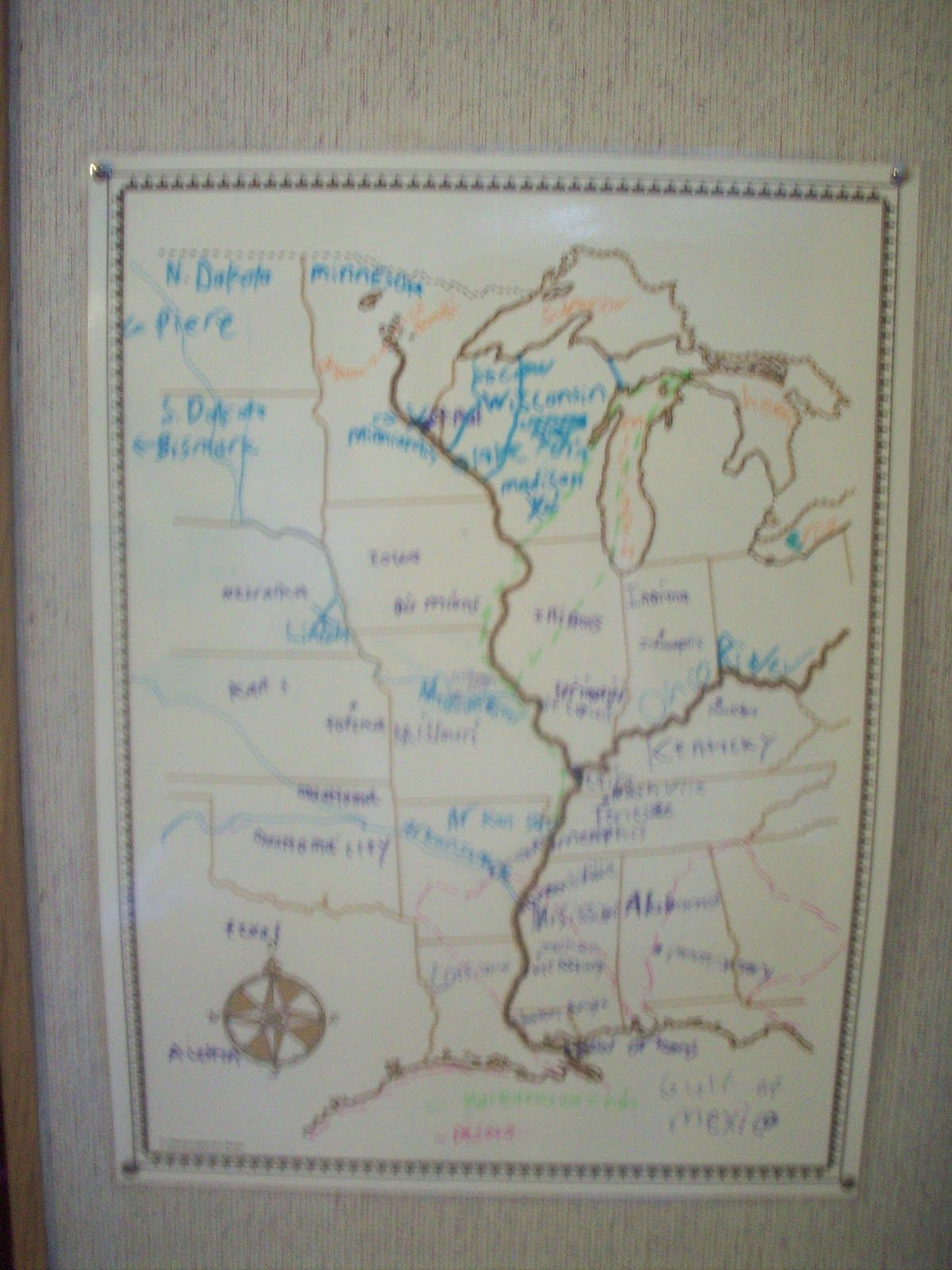 Minn Of The Mississippi Map Mississippi River Map Holling C - Minn map