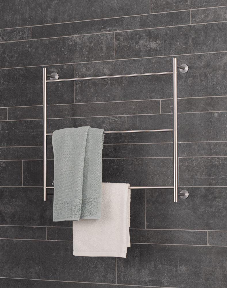 HTB3 PHOS Edelstahl Design Edelstahl matt 3 Querstangen Handtuchst/änder freistehend