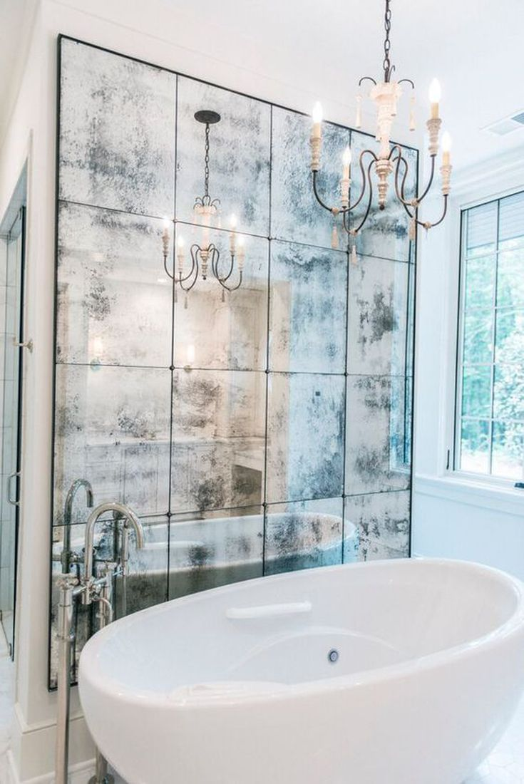 16 Stylish Ways To Decorate With Mirrors Free Standing Bath Tub