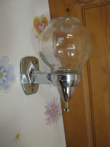Vintage Industrial Wall Mount Liquid Soap Dispenser Glass Chrome