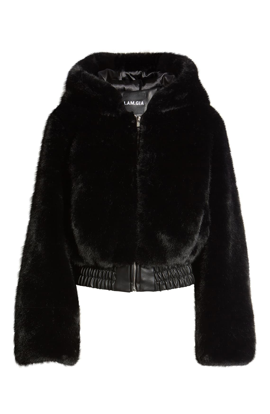 I.AM.GIA. Hooded Crop Faux Fur Jacket Nordstrom Faux