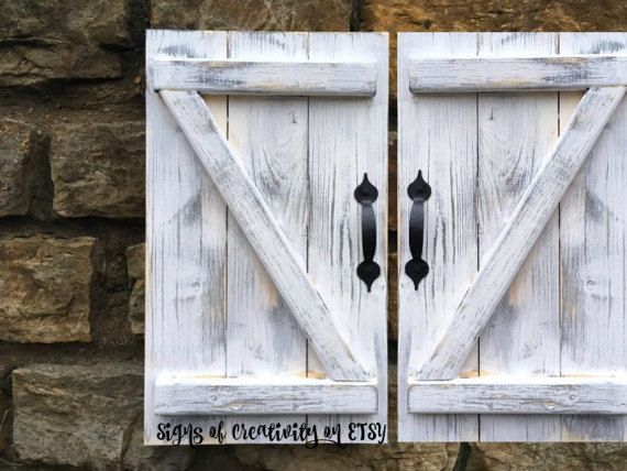 Rustic barn door mini barn door nursery by ...