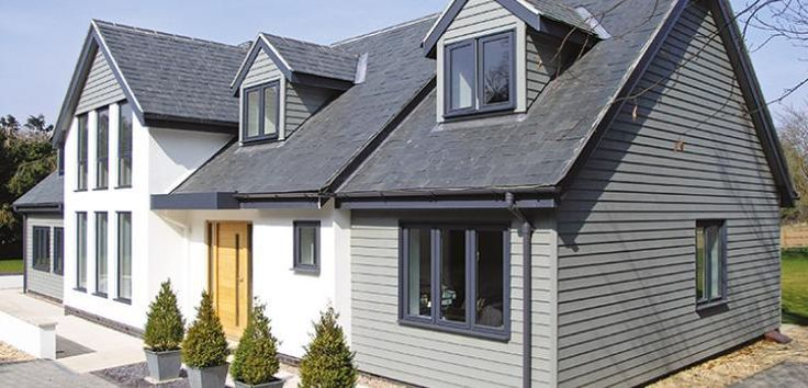 Uk hardie plank dormer google search house exterior for New build designs