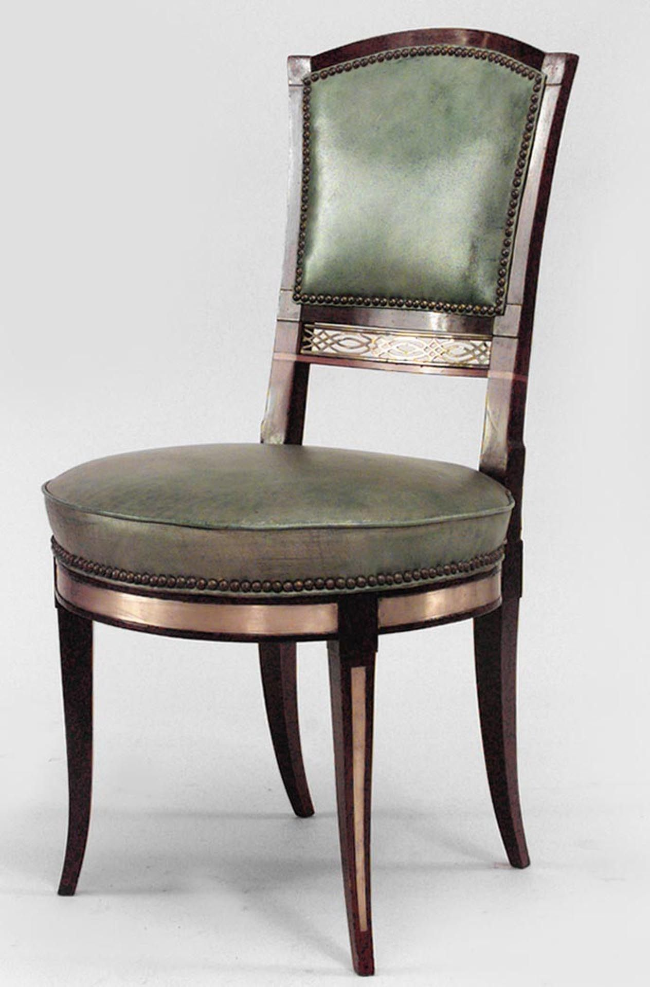 Set of 8 19th c. Russian Neoclassical Side Chairs in 2020