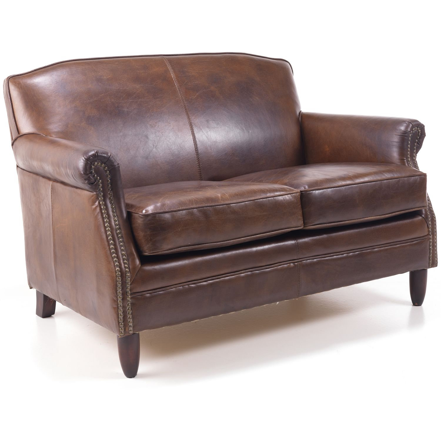 Leather Studded Style Couch Set Photograph