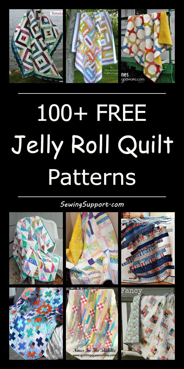 100+ Free Jelly Roll Quilt Patterns & Tutorials