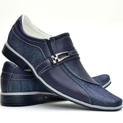 Sapato Masculino Social Em Couro Costurada A Mão Khaata R