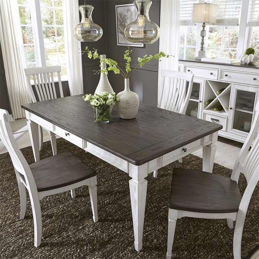 Incredible Allyson Park Rectangular Dining Room Set W Bench Vacation Caraccident5 Cool Chair Designs And Ideas Caraccident5Info