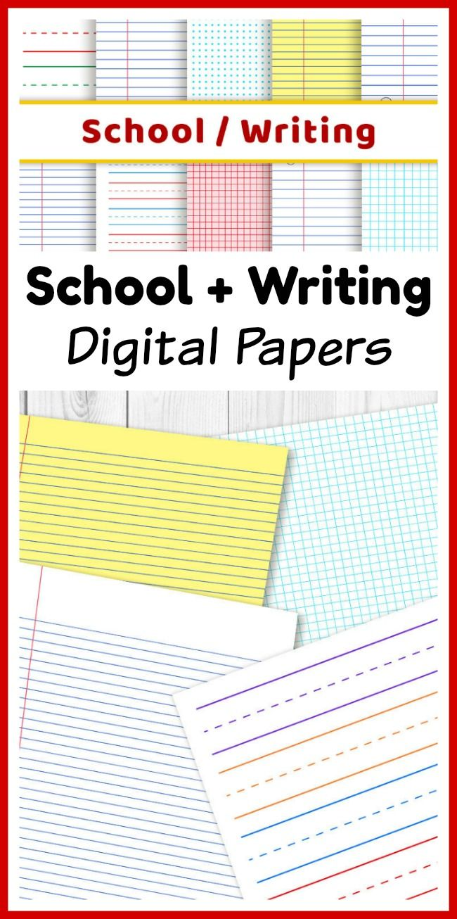 Paper Lined School Digital Papers Preschool Writing Paper Math Graph Paper .
