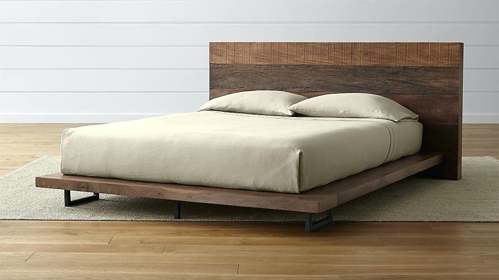 62 Black Wood Bed Frame Rustic Platform Bed Wood Bed Frame