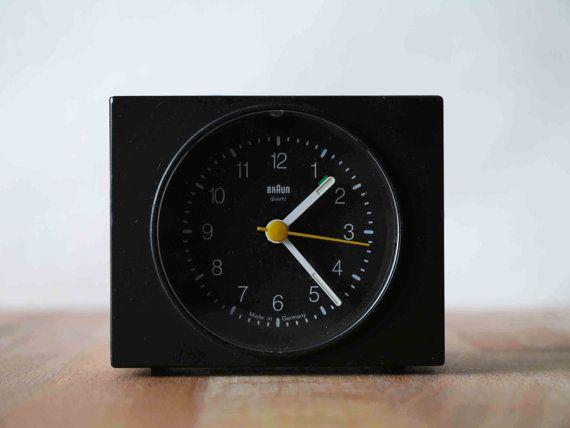 Vintage Original Braun Travel Alarm Clock Type 4750 Ab3 Made In Germany Dieter Rams Travel Alarm Clock Clock Alarm Clock