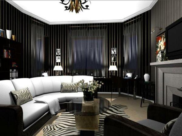 Superb Deco Salon Black And White