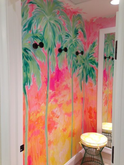 726411047a034b Lilly Pulitzer Print Designer Painting in the Waterside Shops in Naples |  Lilly Retail Details | Lily pulitzer painting, Bathroom art, Lilly pulitzer  prints